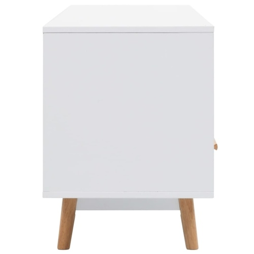 Festnight TV Stand Living Room Scandinavian Design and Retro White 160x40x55 cm MDF