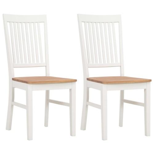 2 pcs 44x59x95 cm Solid Oak Wood Dining Chairs