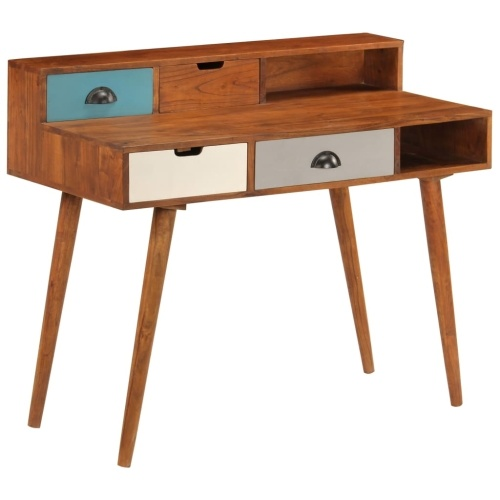 Festnight Office Retro Writing Table 110x50x90 cm Acacia wood Solid