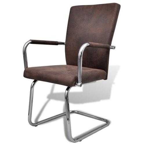 Lot de 4 fauteuils de Salle à manger marron