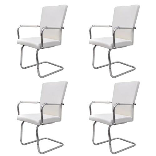 Lot de 4 fauteuils de Salle à manger blanc