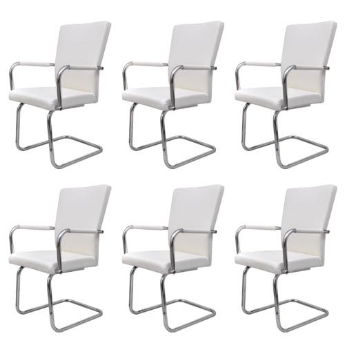 Lot de 6 fauteuils de Salle à manger blanc