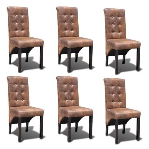 Lot de 6 chaises de salle à manger