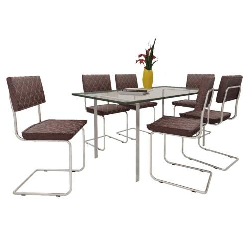 Lot de 6 fauteuils de salle à manger