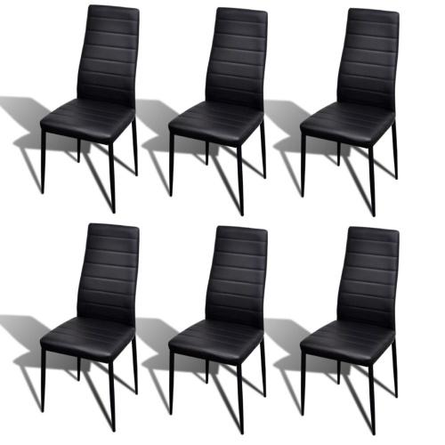 Lot de 6 chaises Salle à Manger Noir