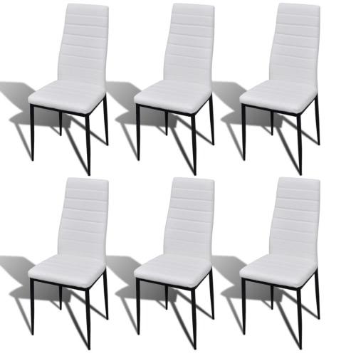 Lot de 6 chaises Salle à Manger Blanc