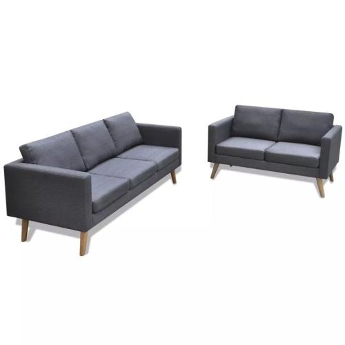 Canapés de 2 et 3 places - gris foncé