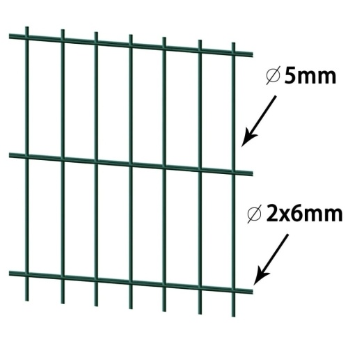 2D pannelli di recinzione per giardino 2008x1030 mm 42 m Verde