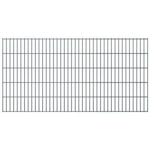 2d fence panels for garden 2008x1030 mm 44 m grey