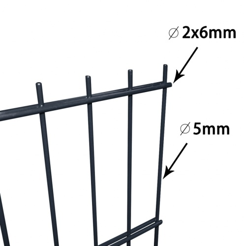 2d fence panels for garden 2008x1230 mm 22 m gray