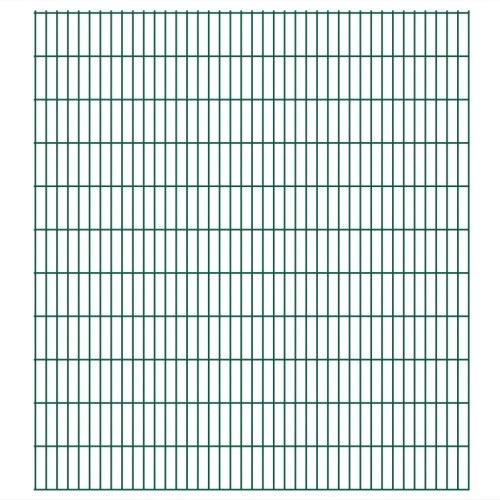 2d garden fence panels 2008 x 2230 mm 16 m green