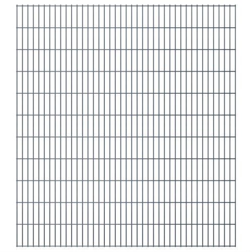 2d garden fence panels 2008 x 2230 mm 40 m grey