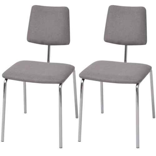 2-piece fabric gray dining chair