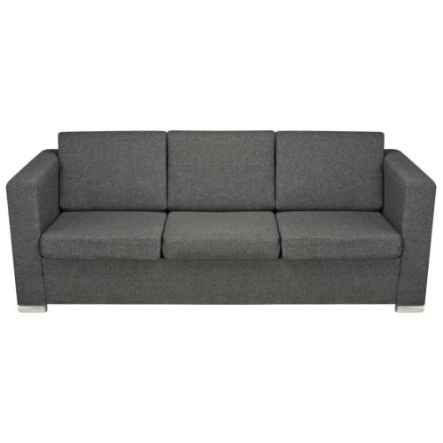 two piece sofa set dark gray fabric