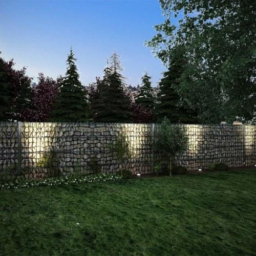2d gabion fence set 2008 x 830 mm 2 m gray