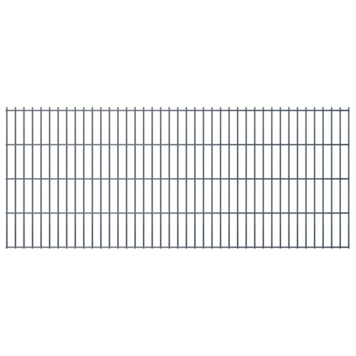 2d gabion fence set 2008 x 830 mm 6 m gray