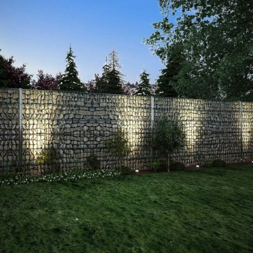 2d gabion fence set 2008 x 1230 mm 6 m galvanized