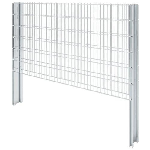 2D Ensemble de clôture de gabion 2008 x 1230 mm 16 m Galvanisé