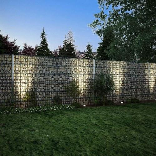2D Ensemble de clôture de gabion 2008 x 1230 mm 18 m Galvanisé