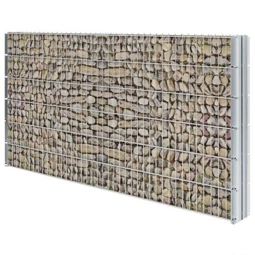 2D Ensemble de clôture de gabion 2008 x 1230 mm 20 m Galvanisé