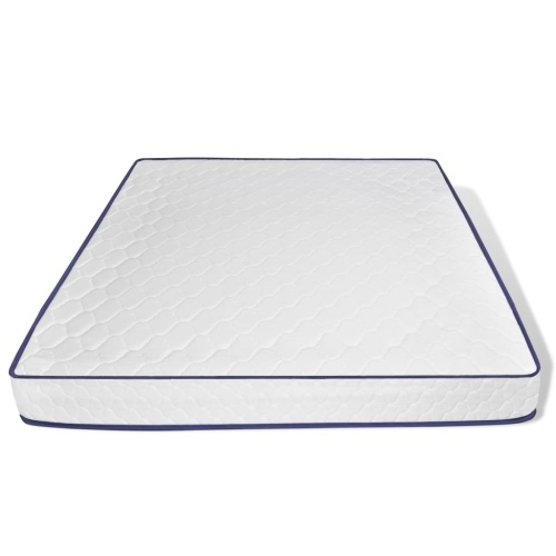 double bed with memory foam mattress 180 x 200 cm white