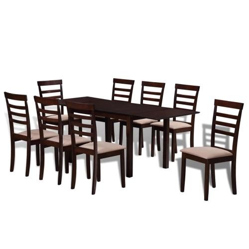 Ensemble de salle à manger extensible Marron