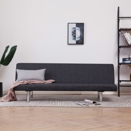Festnight Bench Click Clac Versatile Sofa Bed Adjustable Dark Gray Polyester