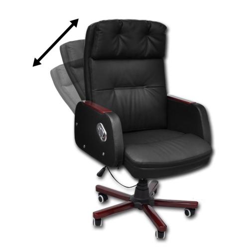 a partir de cuero silla de oficina de alta calidad artificial reclinable negro