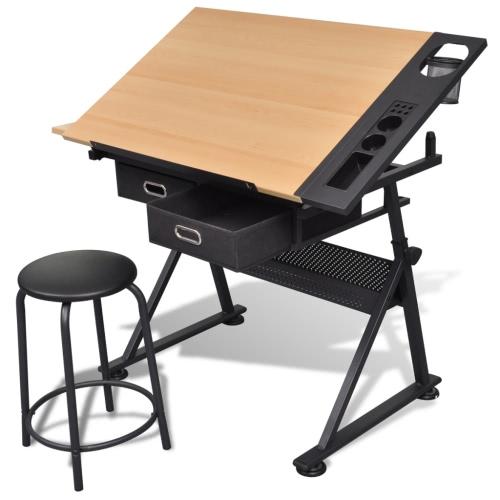 Pochylanie tabelę z deski kreślarskiej i deski kreślarskiej stolec