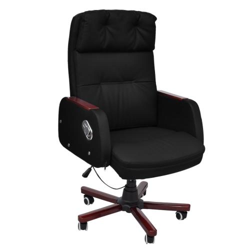 Oficina de negro cuero artificial ajustable Silla reclinable