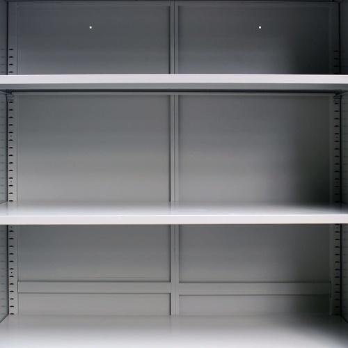"""Офисный шкаф с 2 дверьми Сталь 35.4 """"x15.7"""" x70.9 """"Серый"""