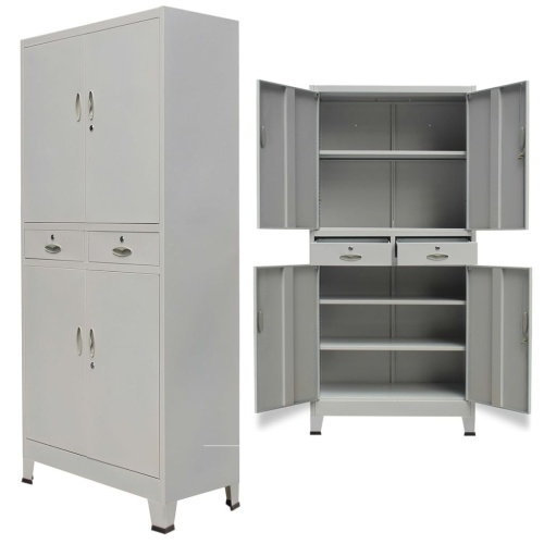 Office Cabinet with 4 Doors Steel 35.4
