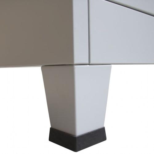 """Schließfachschrank mit 3 Fächern Stahl 35.4 """"x17.7"""" x70.9 """"Grau"""