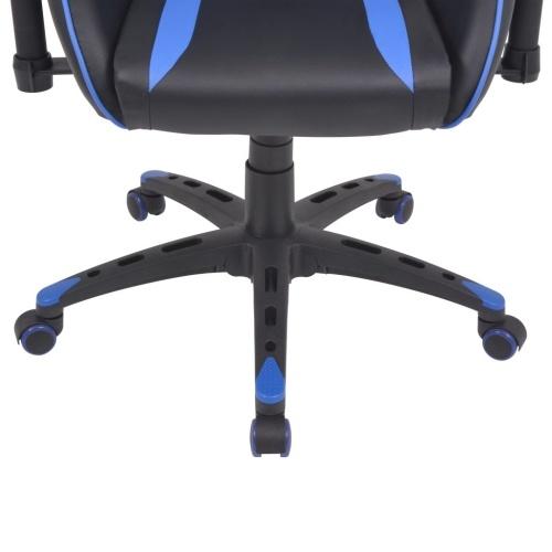 Головное кресло кресла для кресла в искусственной сине-голубой