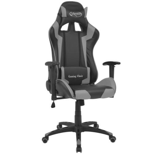Головное кресло кресла кресла в серой искусственной коже