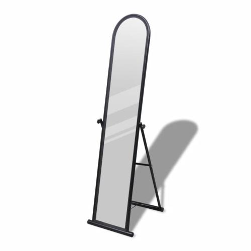 Free Standing Floor Mirror Full Length Rectangular Black