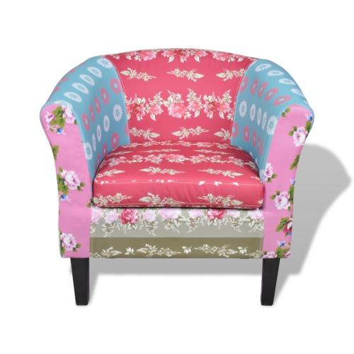 diseño floral patchwork Sillón