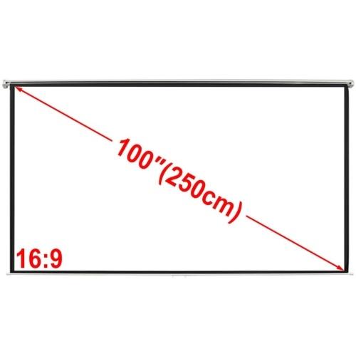 Руководство проекции Scr. 78.7x60.2 в Мат Белый 4: 3. Стена потолочное крепление