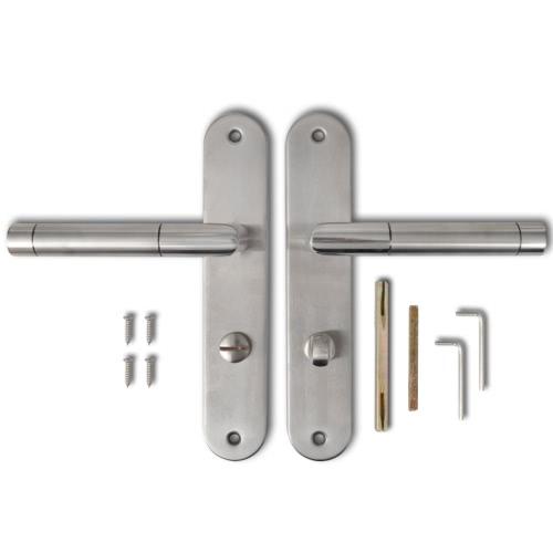 Levier de poignée de porte avec plaque en acier inoxydable Wc