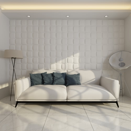 Panel De Pared 3D Cuadrado 0,5 M x 0,5 M 24 Paneles 6 M²