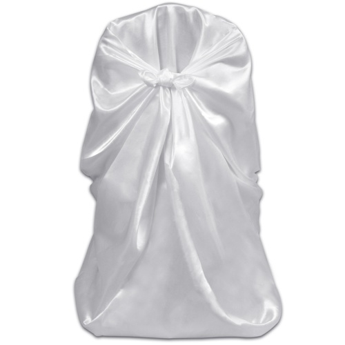 6 pcs White Chair Cover for Wedding Banquet