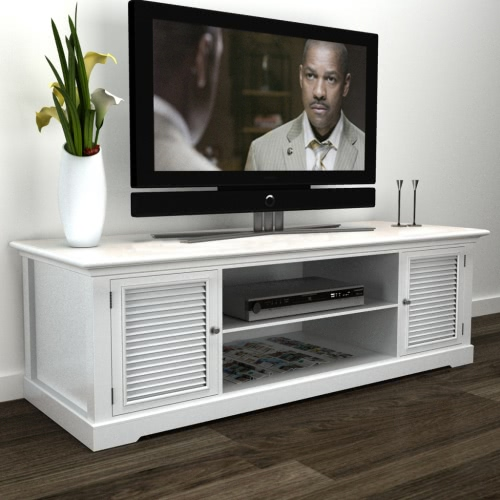 Soporte para TV de madera blanca