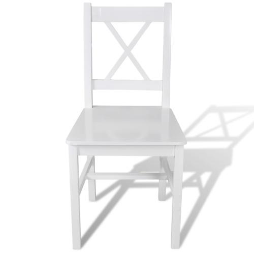 Обеденные стулья 4 шт. Белая древесина