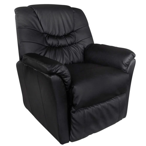 Pelle artificiale elettrico Massage Chair nero