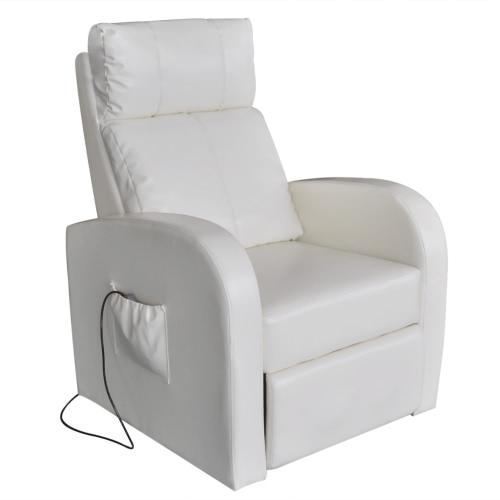 Blanco Silla eléctrica del masaje con control remoto