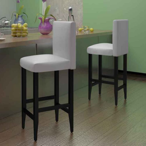 Conjunto de 2 Modern White Bar Stool