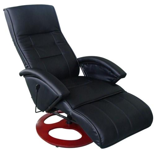 Masaje del cuero artificial de Silla eléctrica Negro
