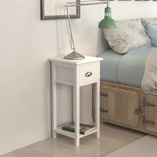 Bedside / Phone Support with 1 Tray White