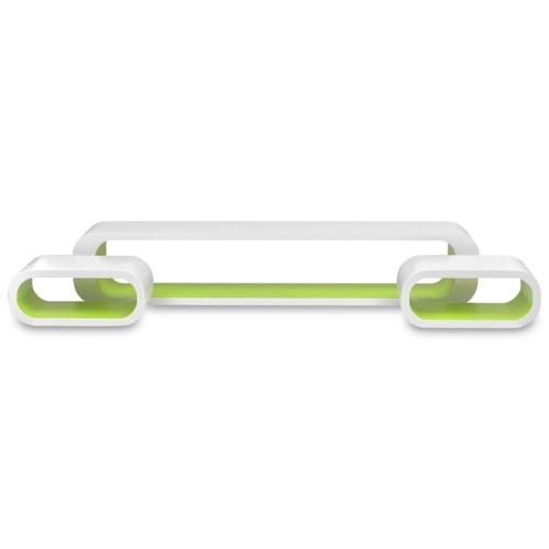 3 Scaffali a mensola per esposizione a parete con mensole in MDF bianco-verde