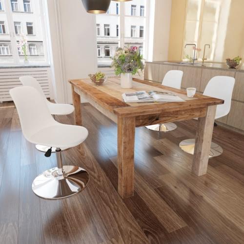 4 sedie girevoli tavolo bianco con altezza regolabile